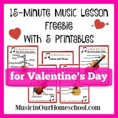 15-Minute Music Lesson for Valentine's Day with 5-page printable pack