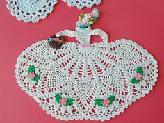 Hand Crocheted Society Crinoline Lady Doily by songage on Etsy, $19.99.  I would like to have the pattern.