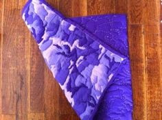 Placemat - Purple Camo - Quilted Placemat - Home Decor