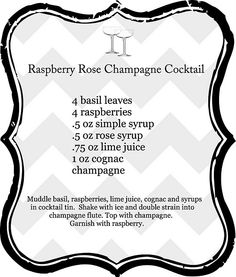 Raspberry Rose Champagne Cocktail