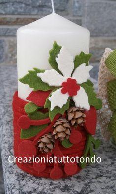 decorare candele per natale