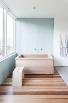 custom cedar tub, fabricated by Dovetail | Capitol Hill Residence by Heliotrope Architects and Dovetail General Contractors, Seattle