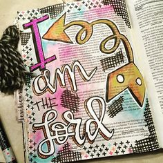 Bible Journaling by Illustrated Faith Encouraging Bible Verses, My Bible, Scripture Art, Bible Art, Book Art, Bible Prayers, Illustrated Faith, Journal Inspiration, Lord
