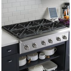 Shop GE Cafe Series Cafe 6 Burner Gas Cooktop (Stainless) (Common: