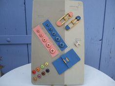 Vintage  Bakelite Buttons Buckles etc Salesmens sample.  Display                                D19
