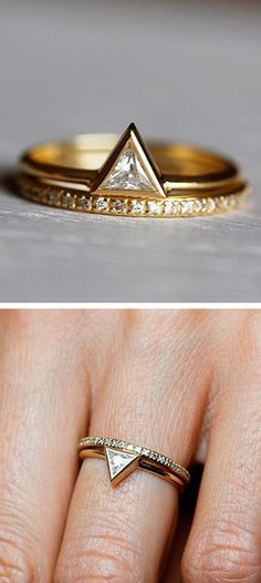 I love this. Maybe not for a wedding ring though.