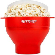 The Original Hotpop Microwave Popcorn Popper, Silicone Popcorn Maker, Collapsible Bowl Bpa Free and Dishwasher Safe- 12 Colors Available (Red) Best Popcorn Maker, Best Microwave Popcorn, Perfect Popcorn, Homemade Popcorn, Popcorn Bags, Specialty Appliances, Healthy Treats, Food Grade, Dishwasher