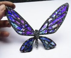 """""""Stained Glass"""" using foil and alcohol inks - Fanciful Flight Butterfly"""