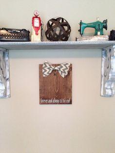Wood Handpainted custom quote burlap clip frame - hangs on wall on Etsy, $35.00