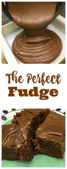 The perfect fudge makes a delicious dessert with plenty of chocolate. The fudge melts in your mouth and is so quick and easy to make. Desserts Fudge that will make all your friends jealous. It's the perfect fudge. Köstliche Desserts, Delicious Desserts, Dessert Recipes, Yummy Food, Plated Desserts, Dinner Recipes, Holiday Baking, Christmas Baking, Weight Watcher Desserts