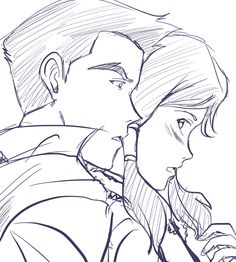 The Legend of Korra: ooh nice sketch! they were so cute together :c