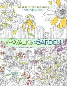 A Walk in the Garden Inspirational Adult Coloring Book Majestic Expressions >>> Want additional info? Click on the image.