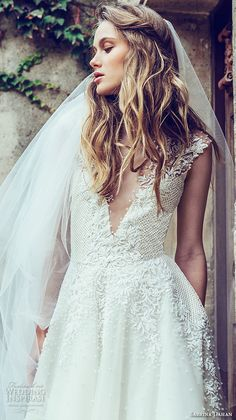 Wedding Bridal Dress // Bijou Details // Sabrina Dahan Fall 2016 Wedding Dresses   Wedding Inspirasi