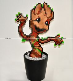 Plant Groot in beads . Film Guardians of the Galaxy