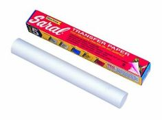 Amazon.com - Saral Transfer (Tracing) Paper 12 in. x 12 ft. roll white for reverse work on dark background  I used it on chalkboard paint and chalkboard film. Works very well.