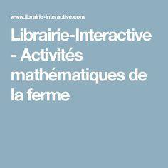 Librairie-Interactive - Activités mathématiques de la ferme
