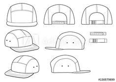 Camp Cap vector illustration flat sketches template