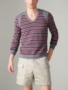 Richard Chai  Arc Seamed V-Neck Sweater