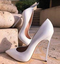 Pumps Size 13 Wedding Dress Shoes White Pointed Toe Metal Heels Pumps High Heels Slip-on Women Formale Shoes Drop Ship Source by katalinfoxx shoes for work Black High Heels, High Heel Pumps, Pumps Heels, Stiletto Heels, White Heels, Pointed Heels Outfit, White Dress Shoes, Super High Heels, Pointed Toe Heels