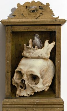 art-and-fury: Memento Mori - Jean Labourdette (Turf One) ~Flesh to Bones~ Antique Wooden Boxes, Gothic Themes, Human Skeleton, Vanitas, Sacred Art, Skull And Bones, Memento Mori, Altered Art, Cool Art