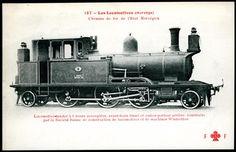 """Lokomotiv. Fransk kort """"Les Locomotives (Norvege) - Chemins de fer de l'Etat Norvegien"""""""