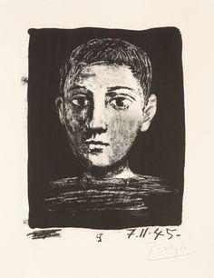 Pablo Picasso Spain 1881-1973 - Head of a Young Boy