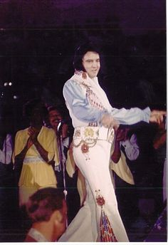 Elvis Presley In Concert September 4, 1976  Lakeland, Florida 8:30pm  Elvis Wore His White Egyptian Bird Suit With Original Belt. TCB⚡ TLC⚡