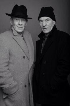 Ian McKellen and Patrick Stewart.