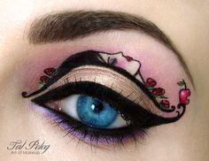 Chica hace increíbles diseños de maquillaje para OJOS. Inspirados en hermosos CUENTOS.