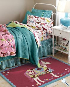 the horse/pony bedding!  Need this for Theresa  she has loved horses since age 1