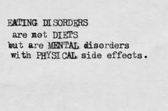 """Blog Post on dealing with people saying, """"I wish I had that problem"""" (in regards to eating disorders). I would never wish my ED on my worst enemy"""