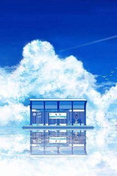 grafika anime, anime girl, and scenery.