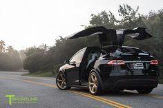 TSportline Ghost Gold MX5 Alloy Wheels Tesla Model X-Tuning 4
