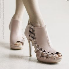 high - heeled shoes - http://zzkko.com/n156156-012-new-leather-summer-sandals-the-female-Korean-waterproof-Taiwan-high-heeled-low-to-help-the-Roman-fish-head-hollow-sweet-nude-color.html $26.60