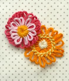 Whit's Knits: Woven FlowerNecklace - Knitting Crochet Sewing Crafts Patterns and Ideas! - the purl bee