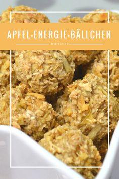 Apfelsnacks als Energie-Bällchen vegan und gesund ein kinderleichtes Rezept mit Energie für die ganze Familie - nicht so süß, aber dennoch super lecker I feierSun.de