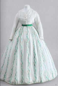 historical clothing / 1866 sheer dress