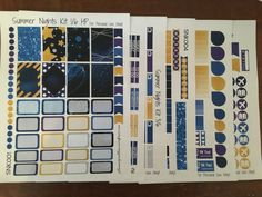Summer Nights Full Kit & Samplers!   Free Printable Planner Stickers from plannerproblem.wordpress.com! Download at https://plannerproblem.wordpress.com/2016/06/24/summer-nights-kit-free-printable-planner-stickers/
