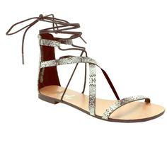 9b00975e933e Womans Gladiator Sandals 6.5 Lace Up Sandals