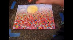 Artist Angela Anderson shows step-by-step how to paint this Yvonne Coomber inspired painting. Super easy and fun floral landscape. Perfect for kids and begin...