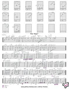 Pilot Magic Guitar Tab by Jeffrey Thomas! Play this great 70's rock tune with my guitar tab. Purchase includes a free Skype guitar lesson with Jeff.