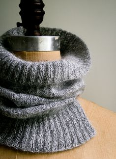 Ravelry: Salt and Pepper Cowl pattern by Purl Soho Ribbon Wrap, White Ribbon, Bee Free, Purl Bee, Color Feel, Purl Soho, Knit Cowl, Crochet Cowls, Crochet Granny