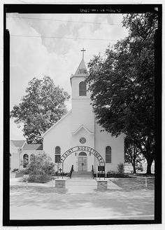 3.  North northeast (front) elevation, with scale - St. Augustine Roman Catholic Church, Highway 484, Melrose, Natchitoches Parish, LA
