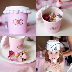 Ice Cream Parlor Party favors