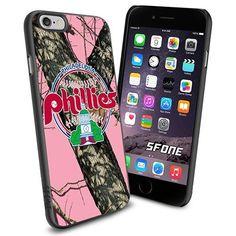 Philadelphia Phillies MLB PinkCamo Logo WADE6281 Baseball iPhone 6 4.7 inch Case Protection Black Rubber Cover Protector WADE CASE http://www.amazon.com/dp/B013Z3I88E/ref=cm_sw_r_pi_dp_4.xFwb1M07M5A