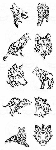 tribal wolf   hier finden sie ganz verschiedene ideen für tolle tribal wolf tattoos