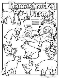 homestead farm farm color page family people jobs coloring pages color plate coloring - Sheets To Color