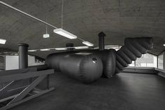 Dancing in the Dark: a Swiss architecture studio have built a black PVC, blow-up disco. And it's incredible...