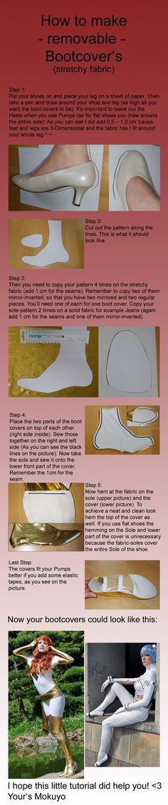 How to make Bootcovers Part 2 of 2 - removable by Mokuyo.deviantart.com on @deviantART