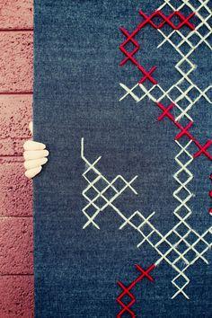 Giant cross stitch